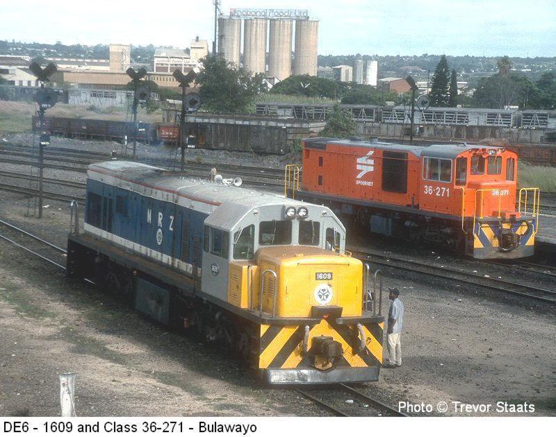 Zimbabwe Diesel Locomotive Class De6 Photos